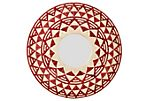 Aztec Woven Mirror, Red