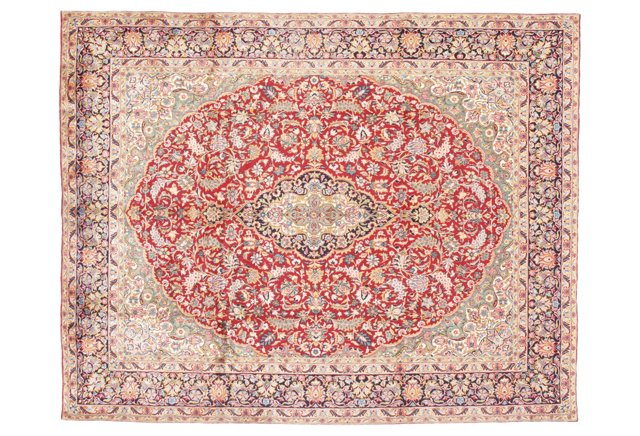 "10'7""x13'5"" Persian Kerman Rug, Multi"