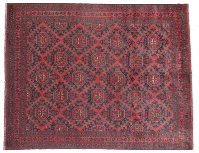 """9'10""""x12'8"""" Persian Rug, Red/Blue"""