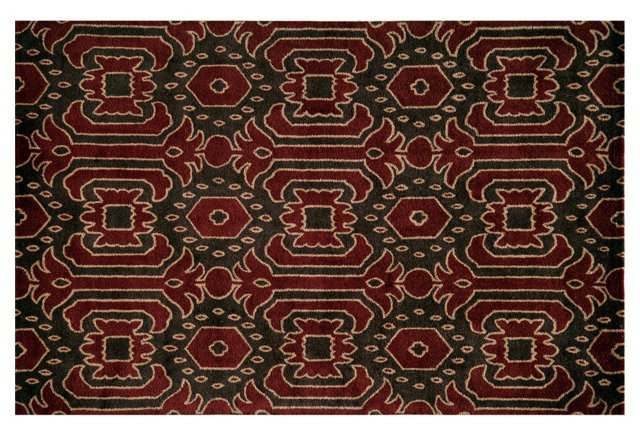 Amoret Rug, Brown/Burgundy