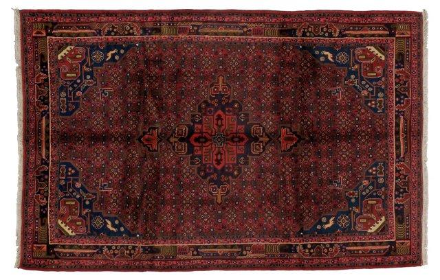 "7' x 10'3"" Persian Bidjar Rug, Red/Blue"