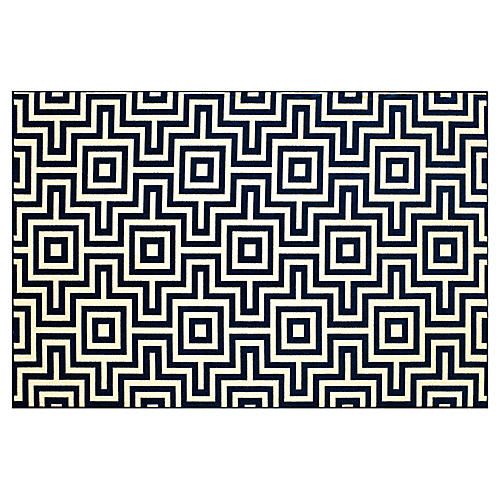 Myrtos Outdoor Rug, Navy