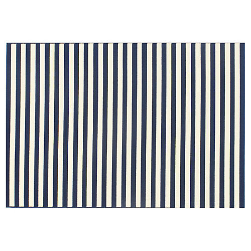 Milos Outdoor Rug, Navy