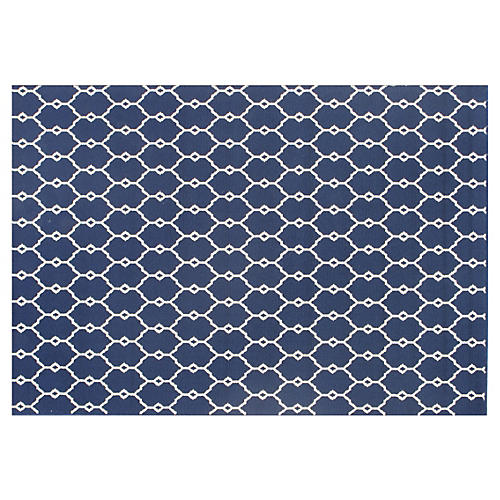 Crete Outdoor Rug, Navy