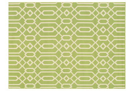 Simos Outdoor Rug, Green