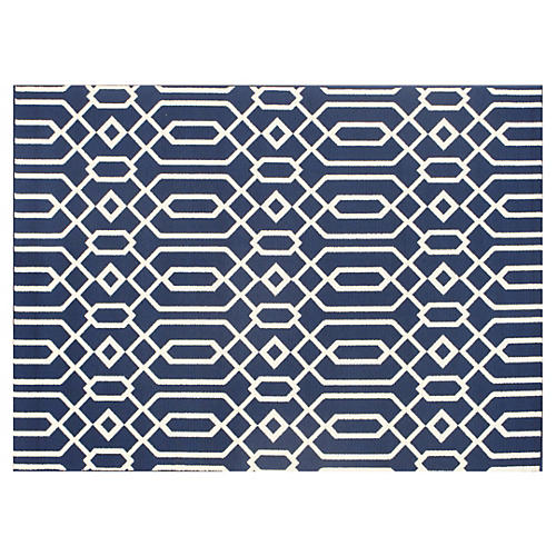 Simos Outdoor Rug, Navy