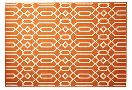 Simos Outdoor Rug, Orange