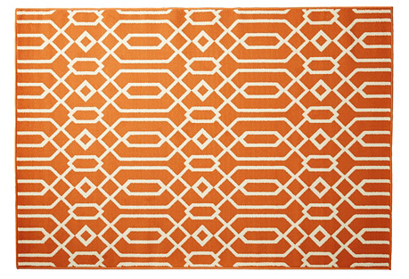 Simos Outdoor Rug, Orange