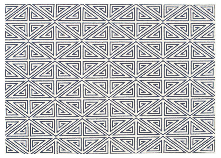 Pori Outdoor Rug, Navy