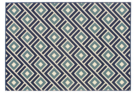 Corfu Outdoor Rug, Blue