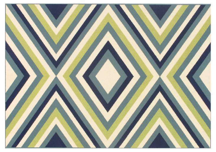 Andros Outdoor Rug, Multi