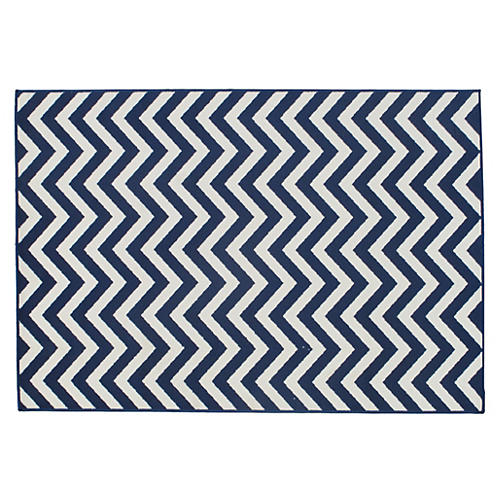 Lemnos Outdoor Rug, Navy