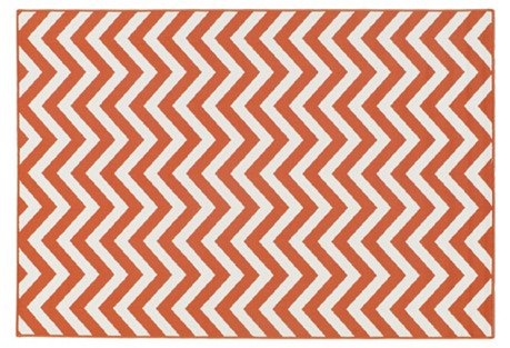 Lemnos Outdoor Rug, Orange