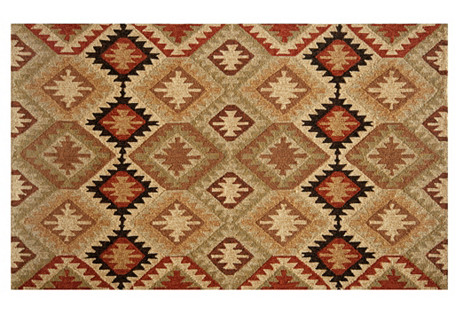 Andrew Outdoor Rug, Black/Brown