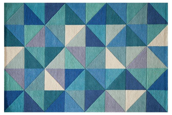 8'x10' Eggold Rug, Blue