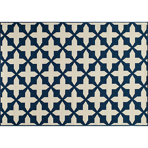 Beck Outdoor Rug, Navy