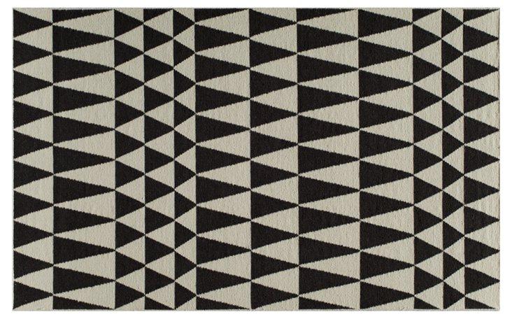 Savannah Flat-Weave Rug, Black