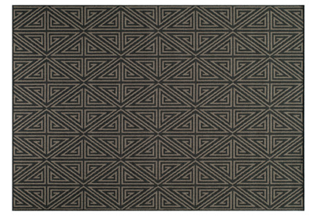 Pori Outdoor Rug, Charcoal