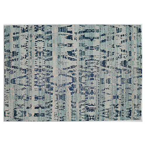 Amias Rug, Ocean Blue