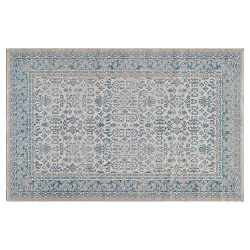 2'x3' Bennet Rug, Ivory/Blue