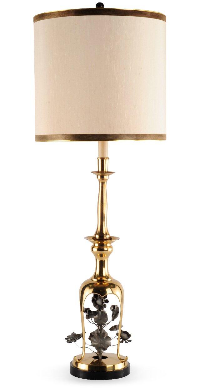 Mid-Century Modern Brass Lamp