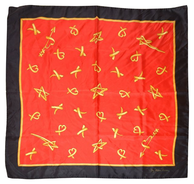 1980s Paloma Picasso Scarf