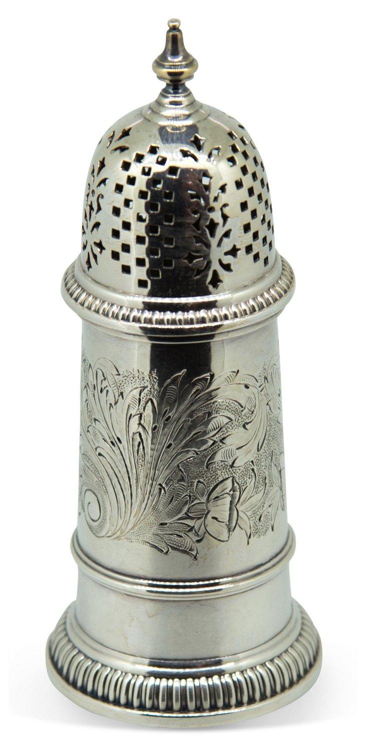 Silverplate Powdered-Sugar Shaker