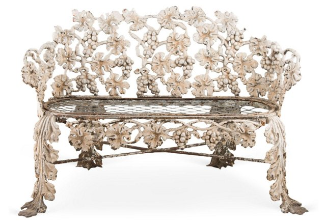 19th-C. Iron Garden Loveseat
