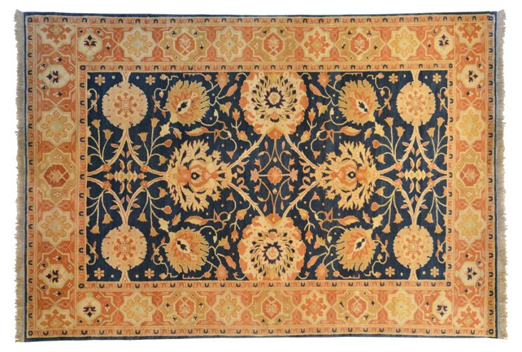 """8'11""""x12'9"""" E. Sultanabad Rug, Navy"""