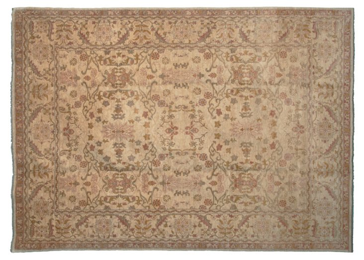 "9'10""x13'5"" P. Agra Rug, Beige/Taupe"