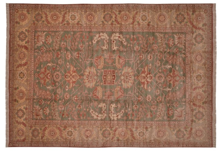 10' x 14' E. Sultanabad Rug, Olive/Multi
