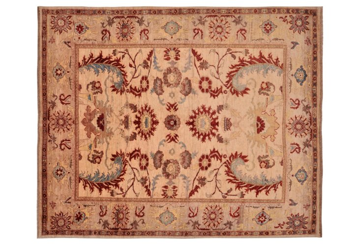 """8'2"""" x 10' P. Sultanabad Rug, Rust/Taupe"""