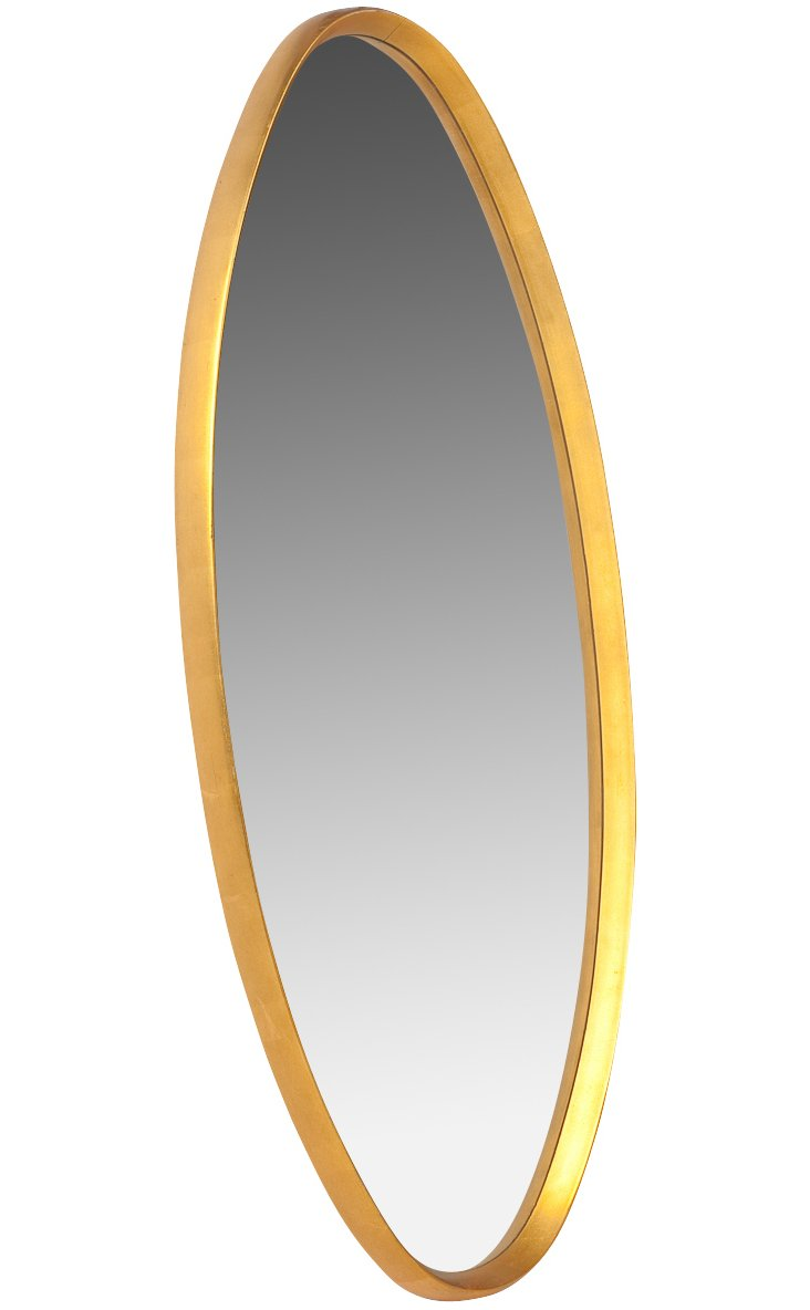 1960s Oval Mirror