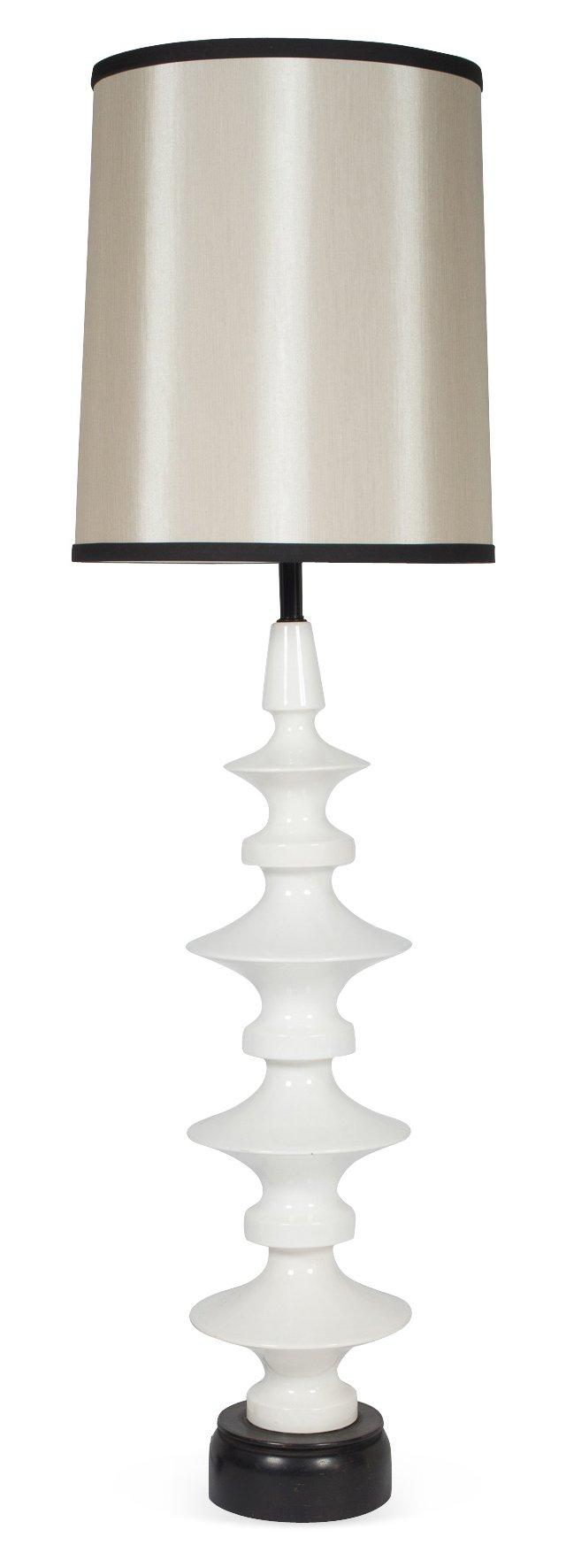 Ceramic Tall Floor Lamp, c. 1950