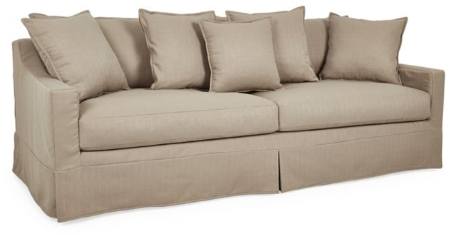 """Kubo 86"""" Slipcover Sofa, Gray"""