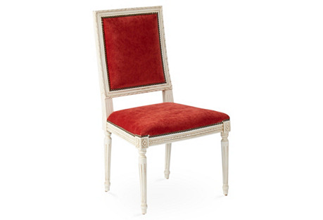 Louis Side Chair, Pompeii Velvet
