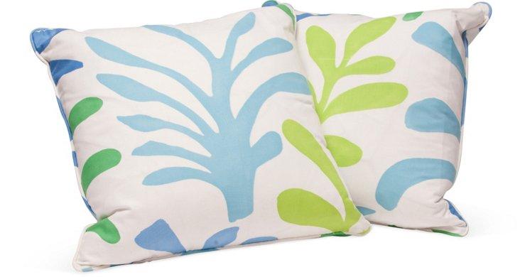 Botanical Print Toss Pillows, Pair I