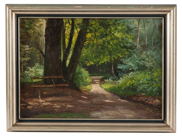 Oil Painting, Path in the Woods