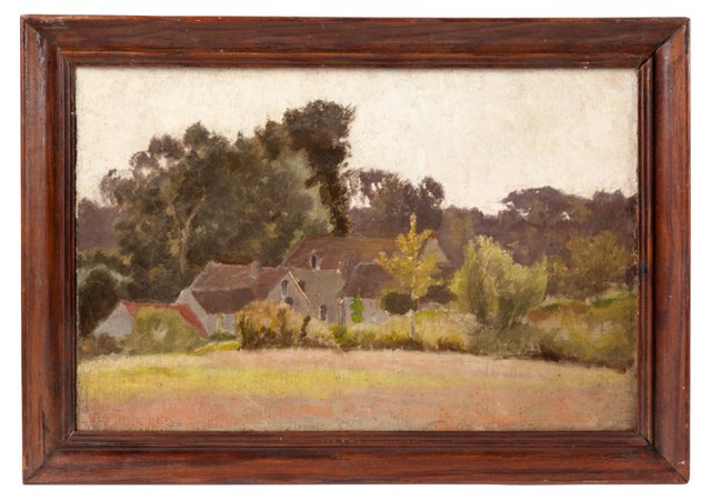 Oil Painting, French Farmhouse