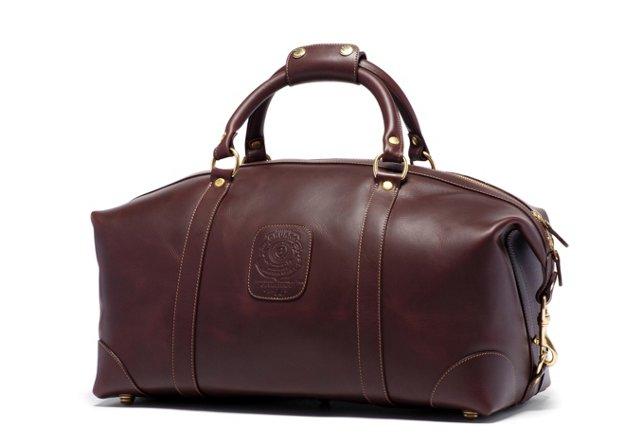 "18"" Leather Cavalier Duffel, Walnut"