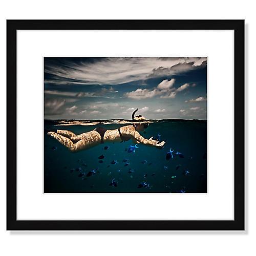 , Girl Snorkelling in Indian Ocean