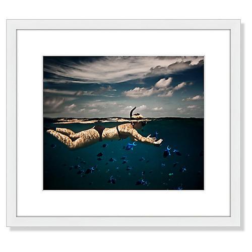 Girl Snorkeling in Indian Ocean
