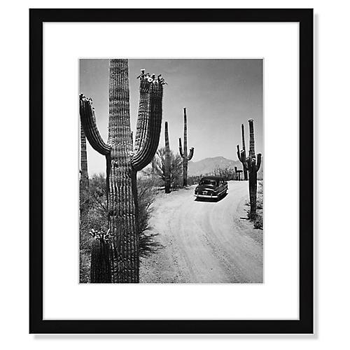 Car on Desert Road