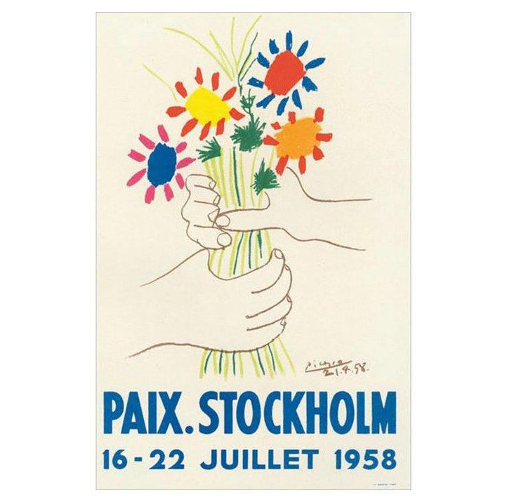 Pablo Picasso, Paix, Stockholm