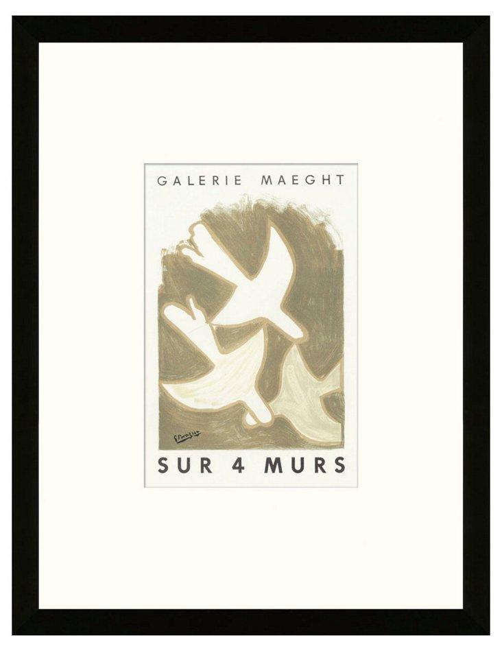 Georges Braque, 'Sur 4 Murs' II, Paris