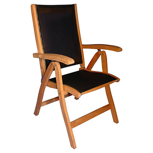 Teak Recliner Chair w/ Sling