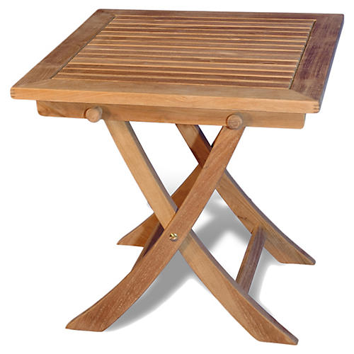 "Teak 19"" Outdoor Bistro Table"