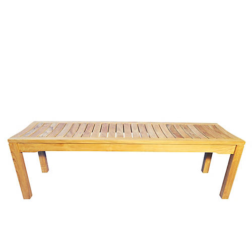 "Teak 60"" Backless Bench"