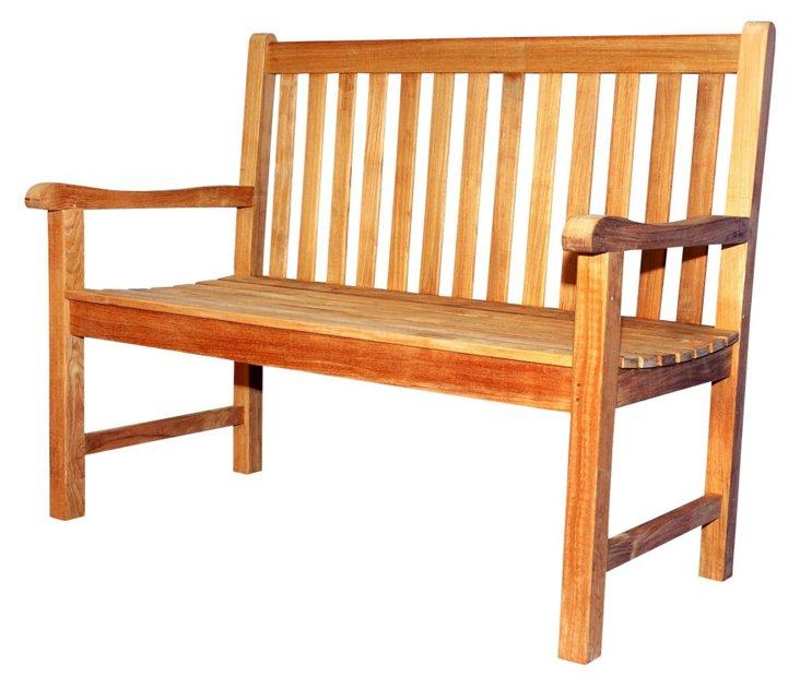 """DNU, Dup  48"""" Garden Bench, Natural"""