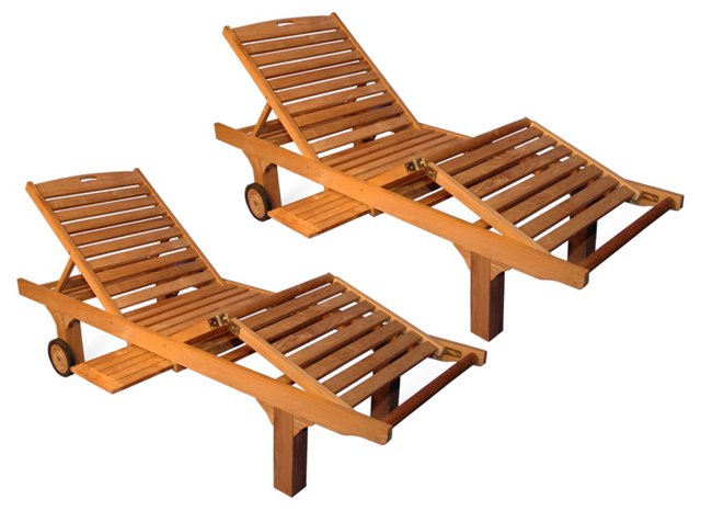 Palm Bay Sun Loungers, Pair